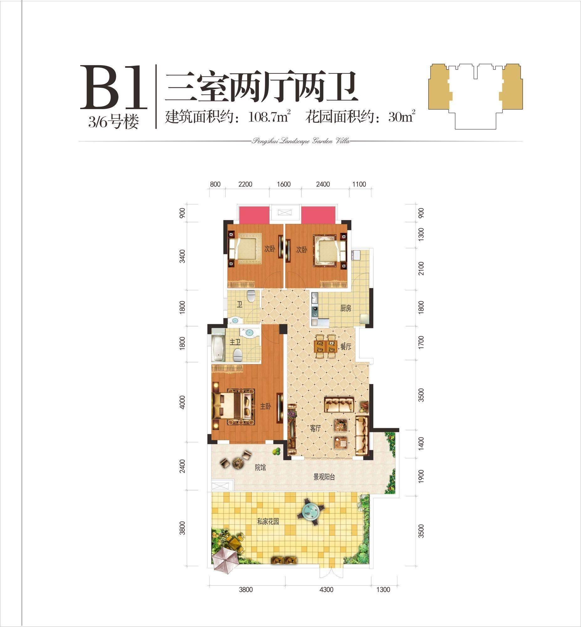 3/6号楼B1户型