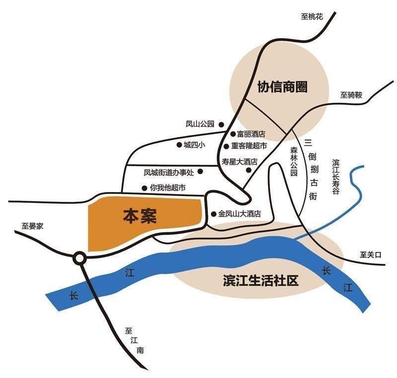 翰林港湾三期江语岸 位置图