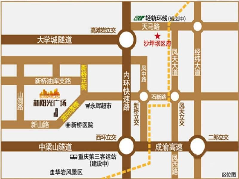 新阳光广场位置图