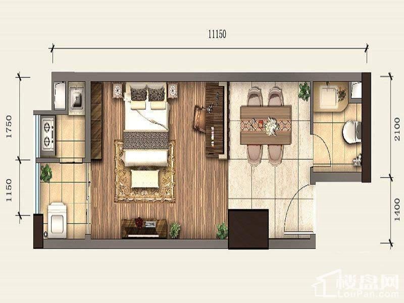 一期SOHO公寓标准层A6户型