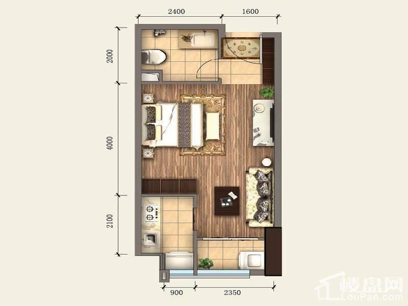 一期SOHO公寓标准层A2户型