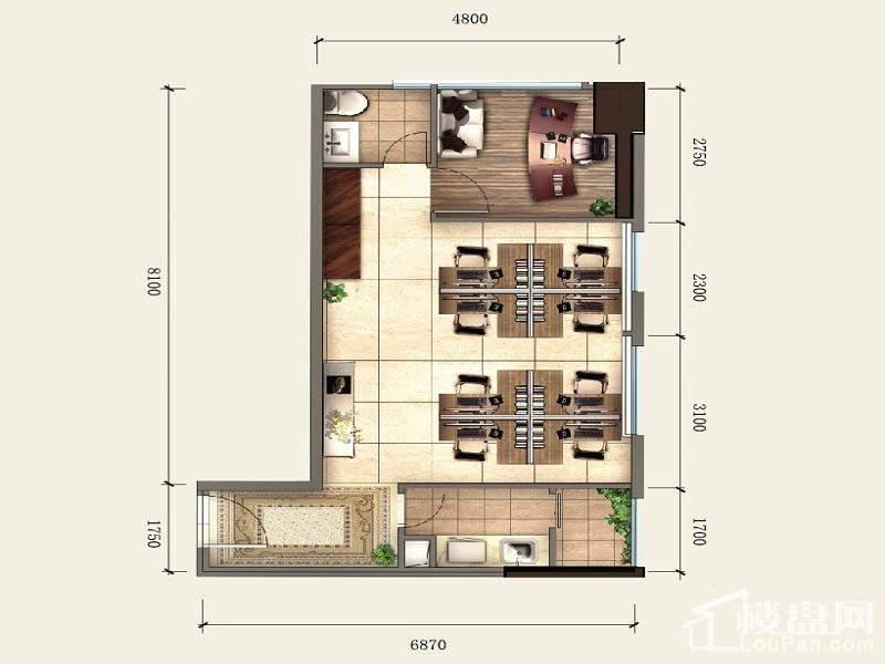 一期SOHO公寓标准层A1户型