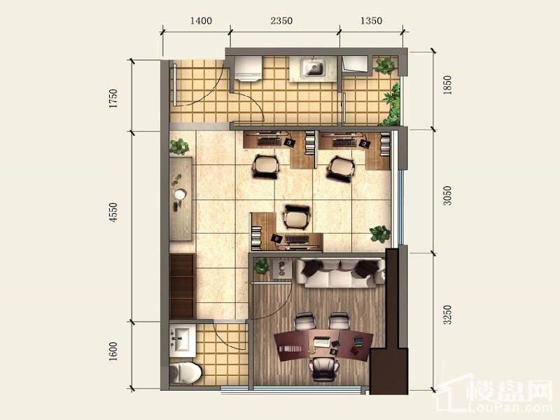 一期SOHO公寓标准层A3户型