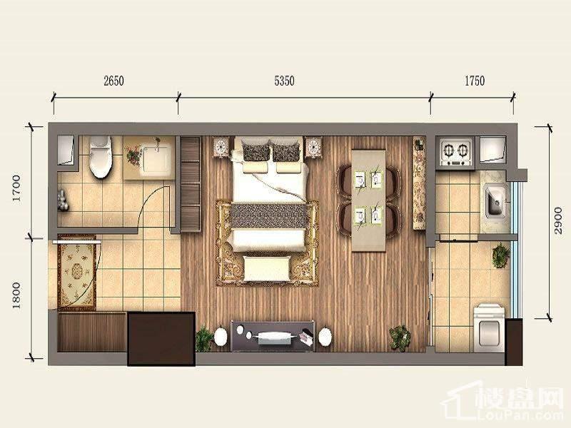 一期SOHO公寓标准层A4户型