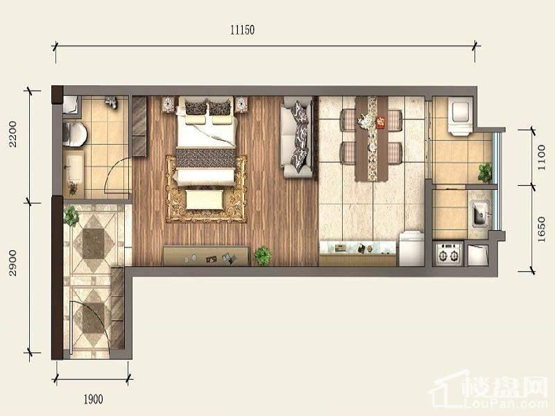 一期SOHO公寓标准层A5户型