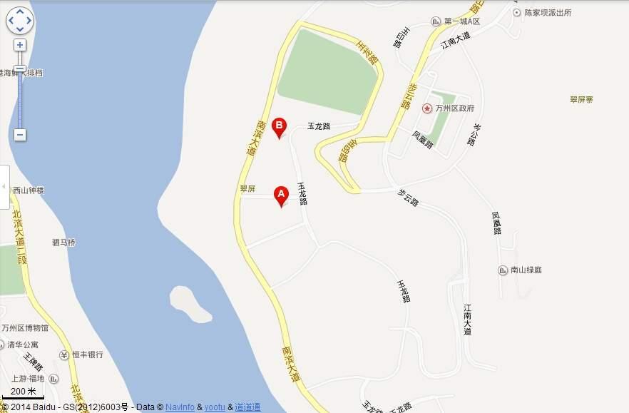 中渝滨江壹号洋房位置图
