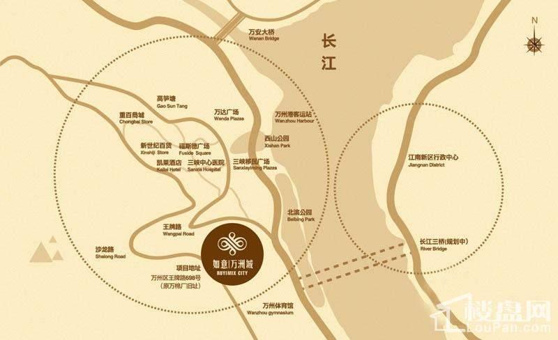 万州如意城位置图