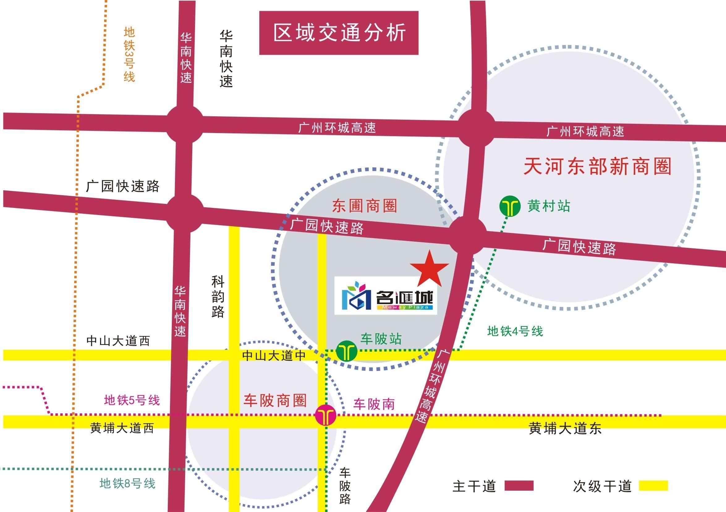 名匯城位置图