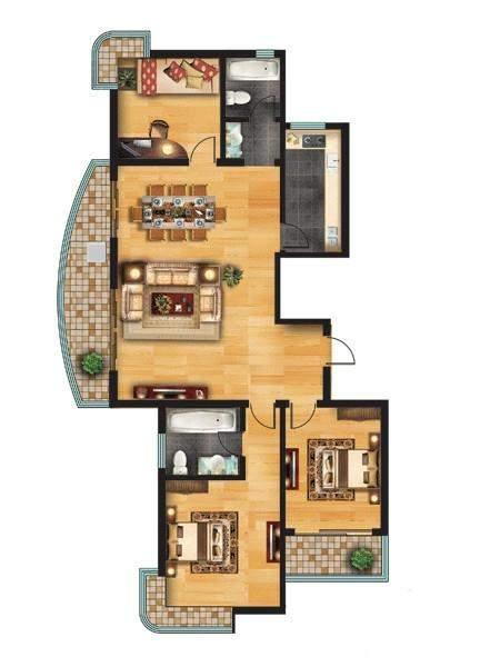 高层住宅户型图