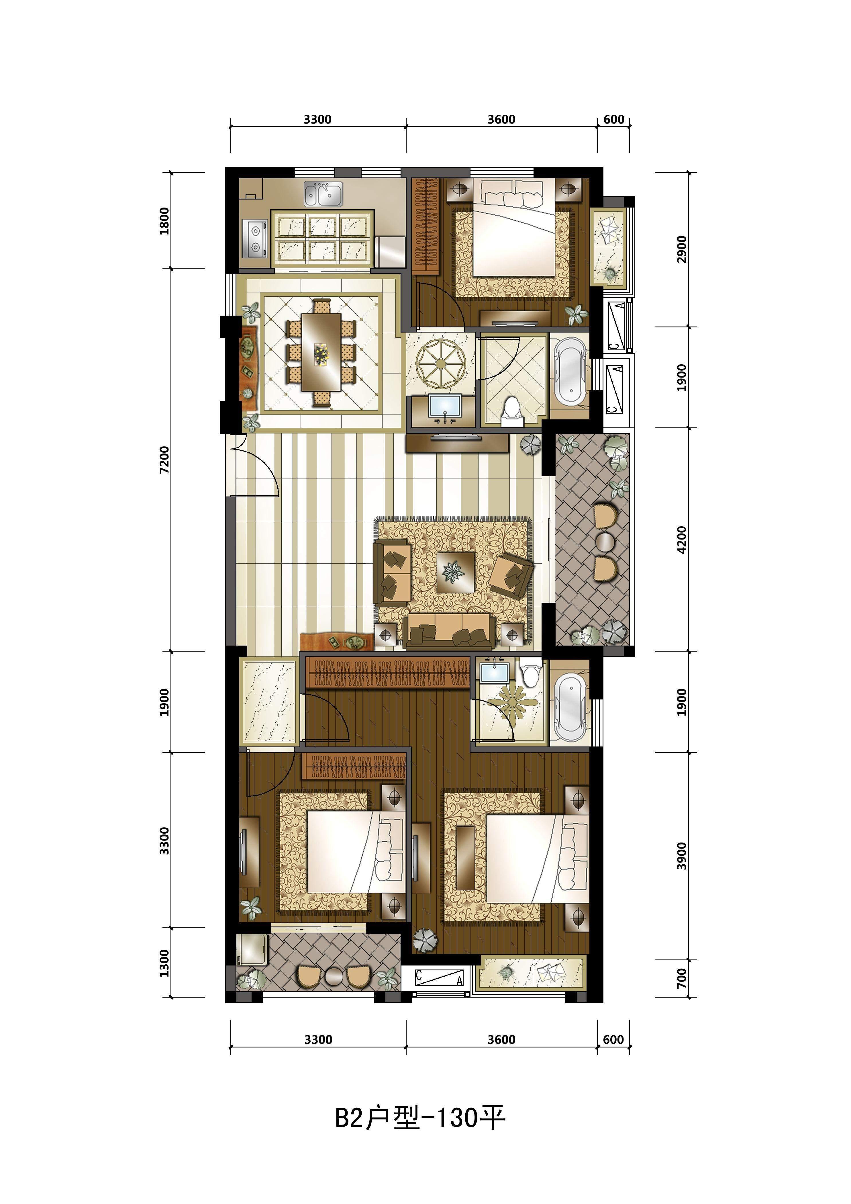 厦门住宅莲花新城2室2厅1卫户型图 厦门楼盘网