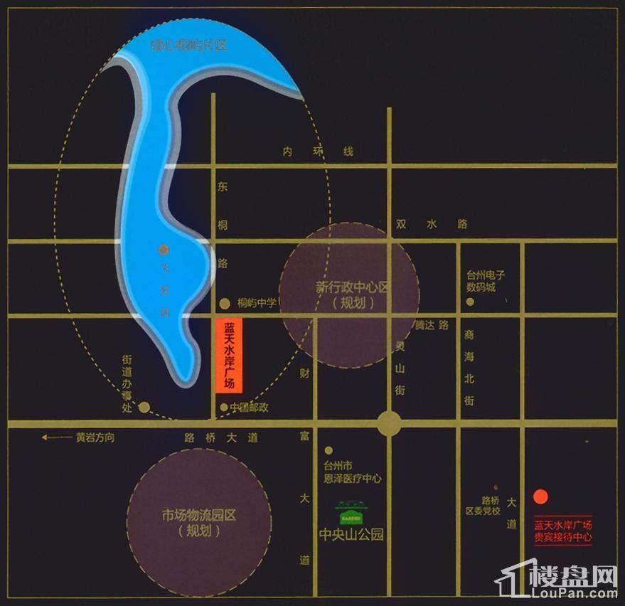 蓝天水岸广场位置图