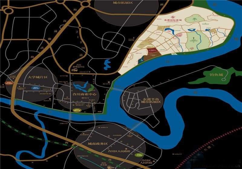 花滩国际新城御榕庄位置图