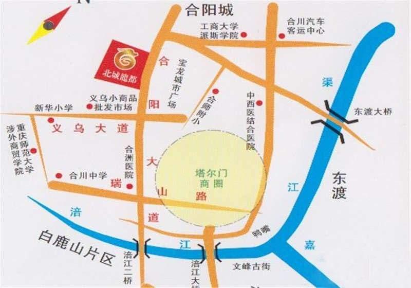 柯轩北城龙都位置图