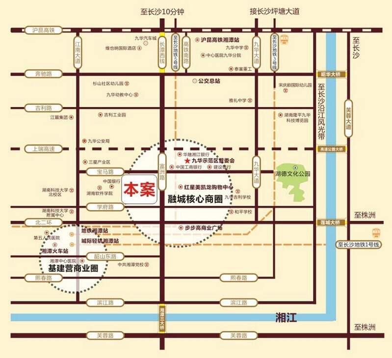 九华新城商铺位置图