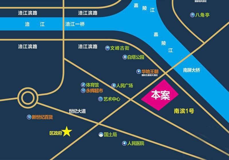 金九南滨花园位置图