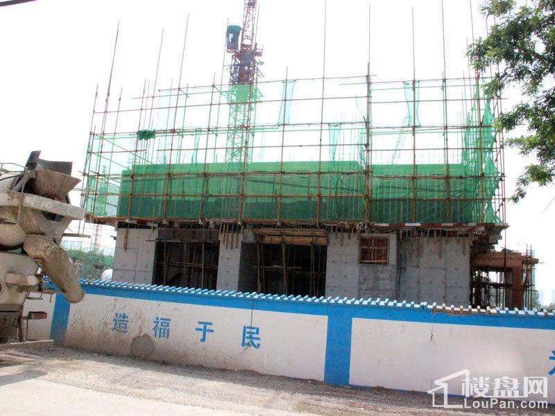 书香铭郡实景图工地施工(2014-06-25)