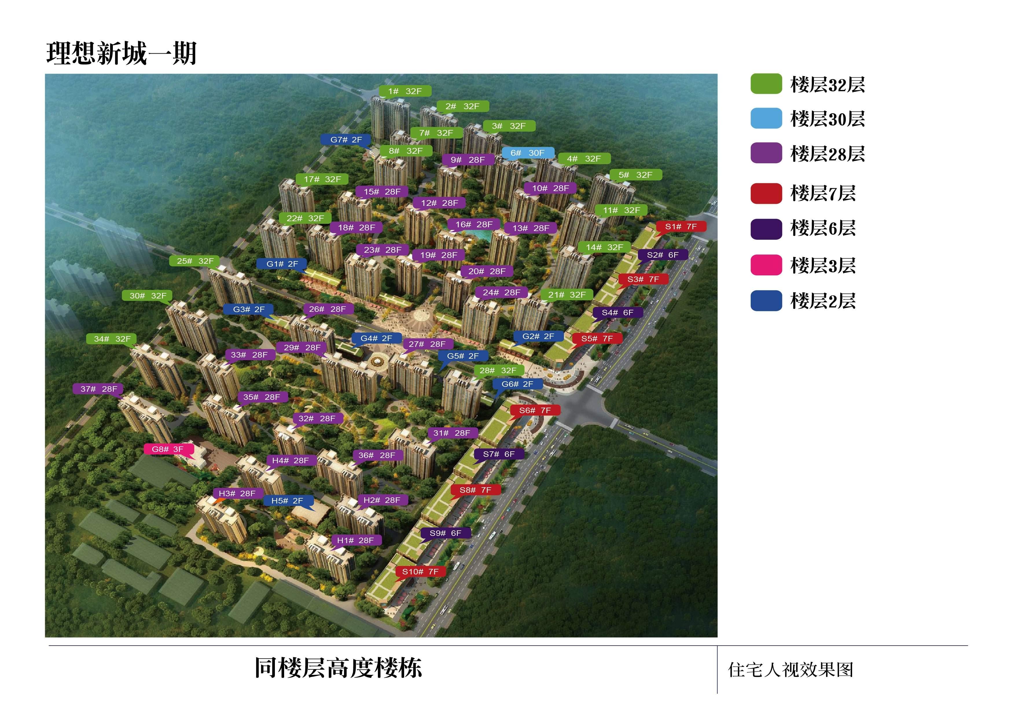 上上城理想新城位置图