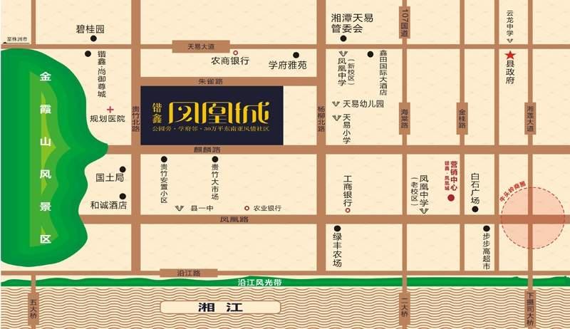 锴鑫•凤凰城位置图