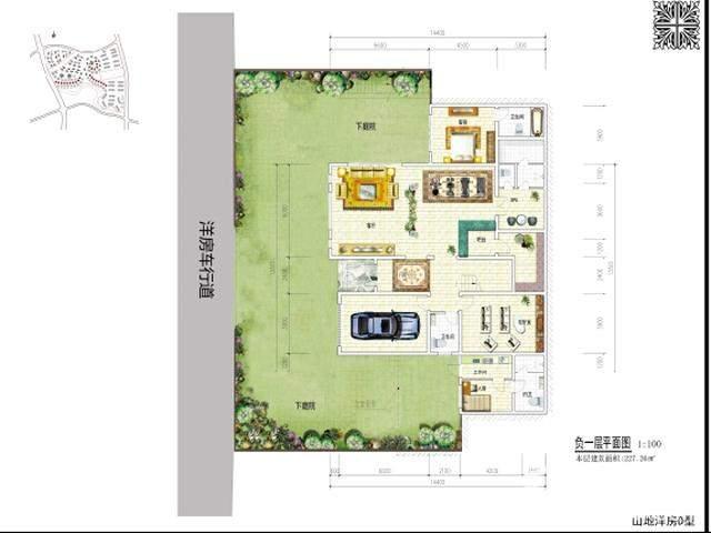 独栋别墅负一层平面图