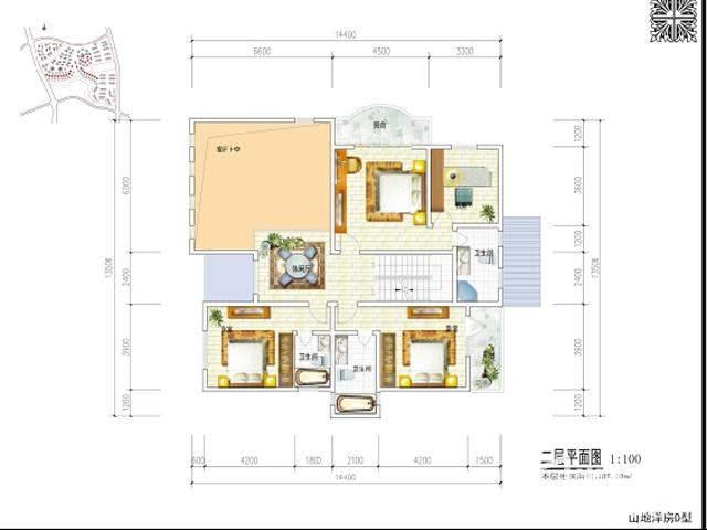 独栋别墅二层平面图