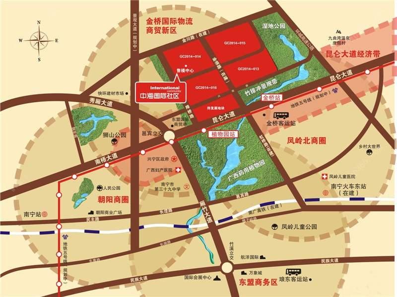 中海悦公馆位置图