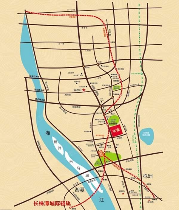 中悦领秀城位置图