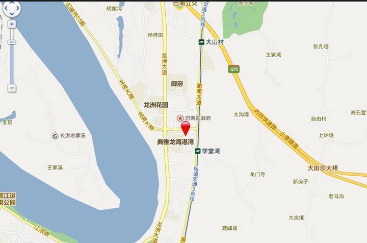 巴南万达广场位置图