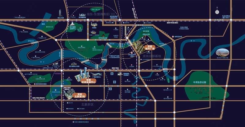 南宁宝能城市广场位置图