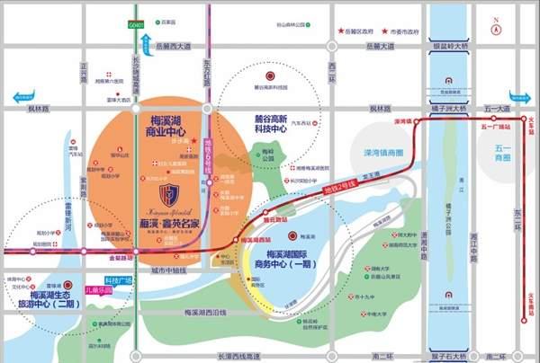 梅溪鑫苑名家位置图