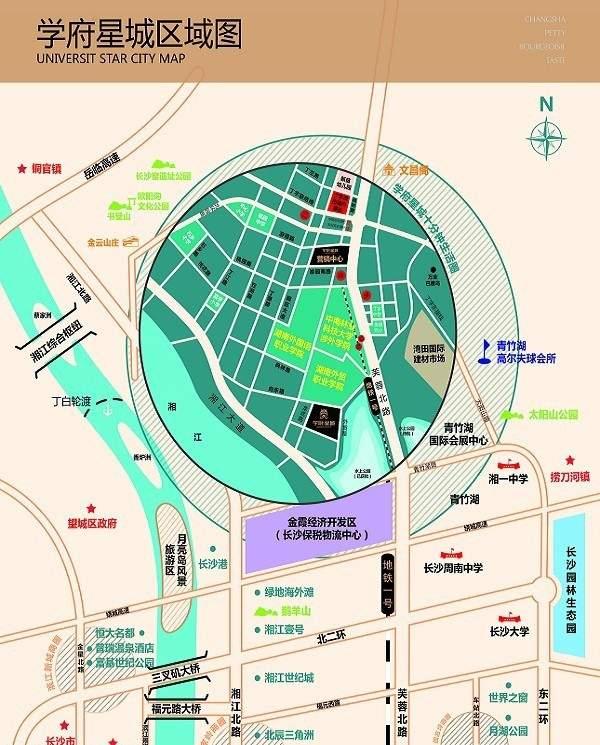 学府星城位置图
