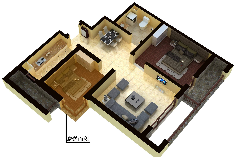 3D户型图-皇家海岸4号