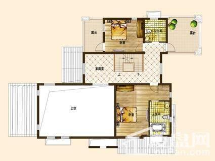 别墅A01户型二层