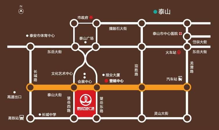 万达广场位置图