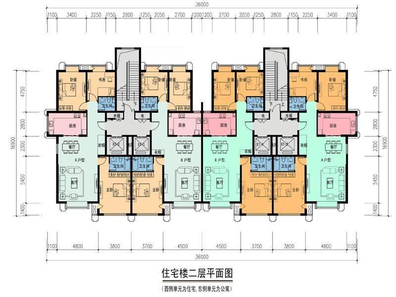 新劝业城住宅二层平面图