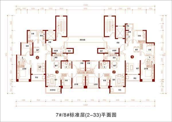 7#8#标准层(2-33)平面图