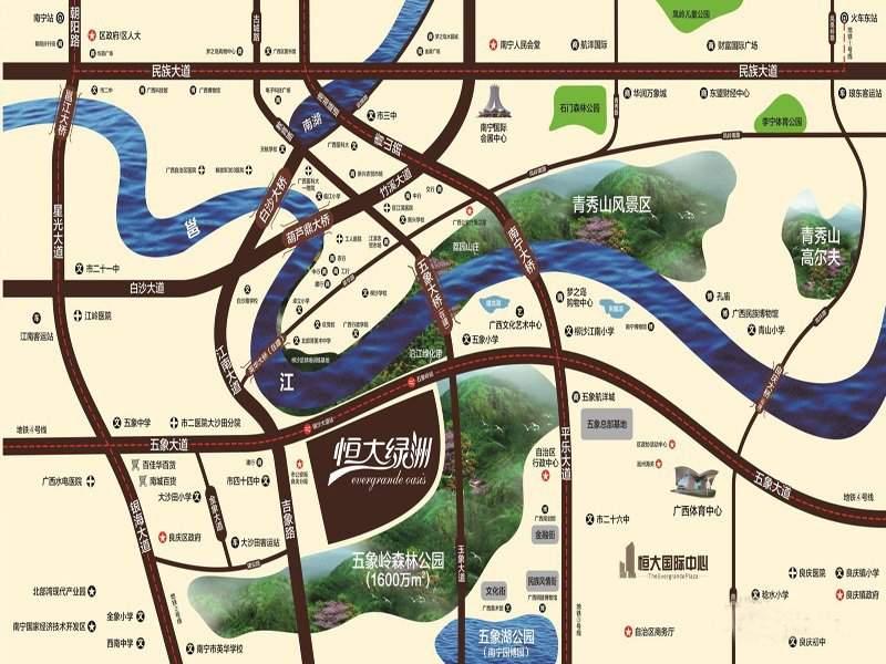 南宁恒大绿洲位置图