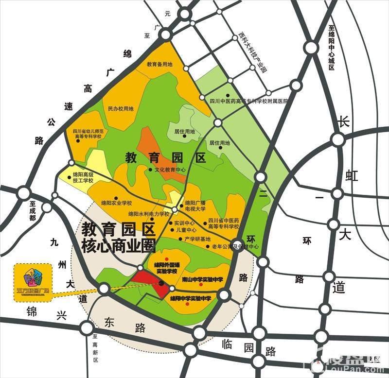 五方校园广场位置图