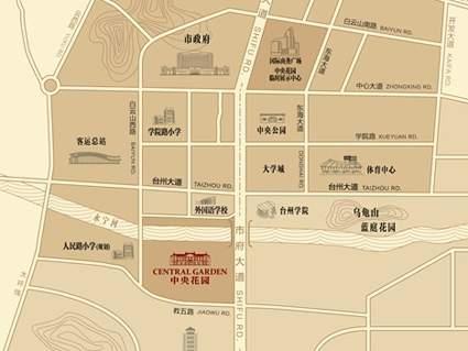 中央花园位置图