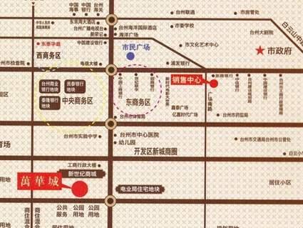 万华城位置图