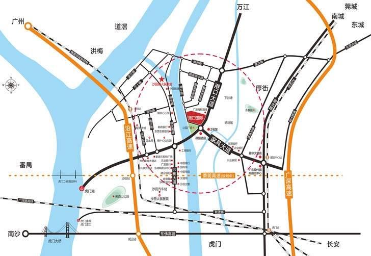 港口国际位置图
