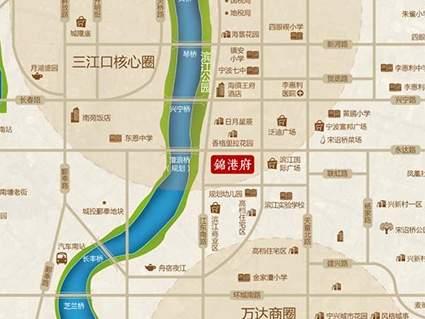 锦港府位置图