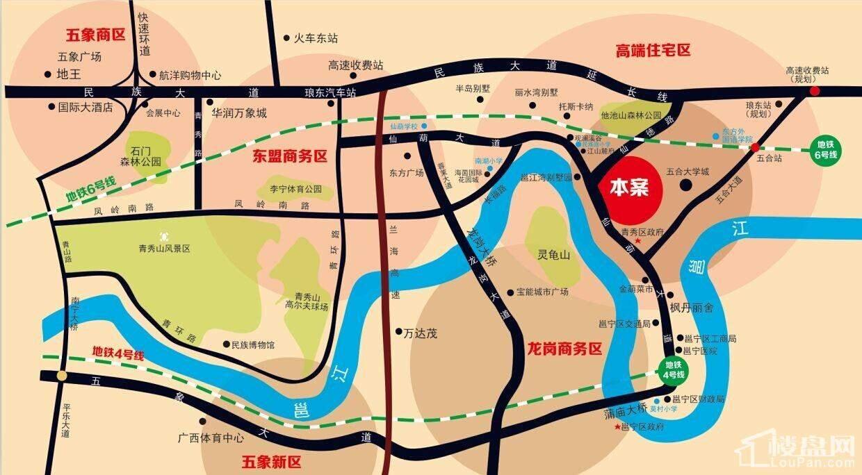 邕江湾交通图