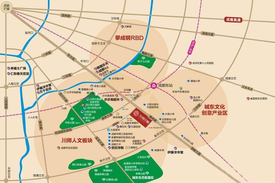双发东城印象位置图