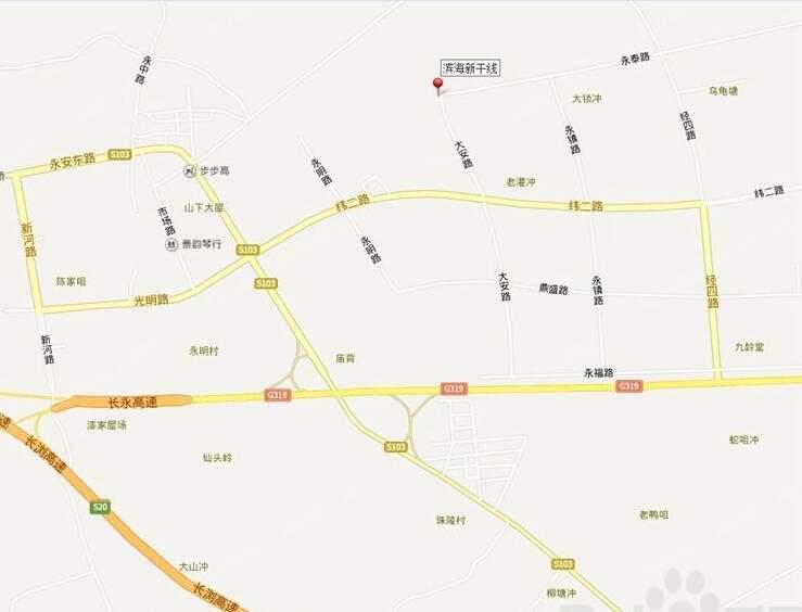滨海新干线位置图