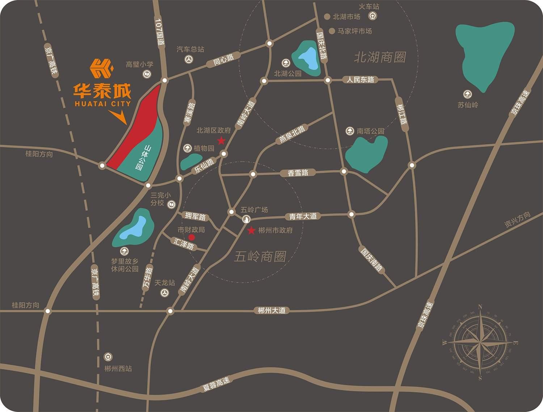 华泰城位置图