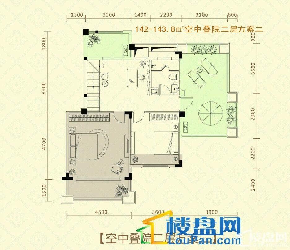 复式楼1层户型图方案一