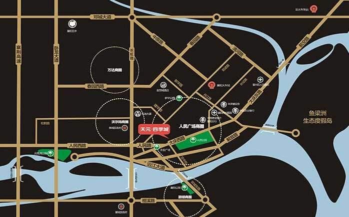 天元四季城位置图