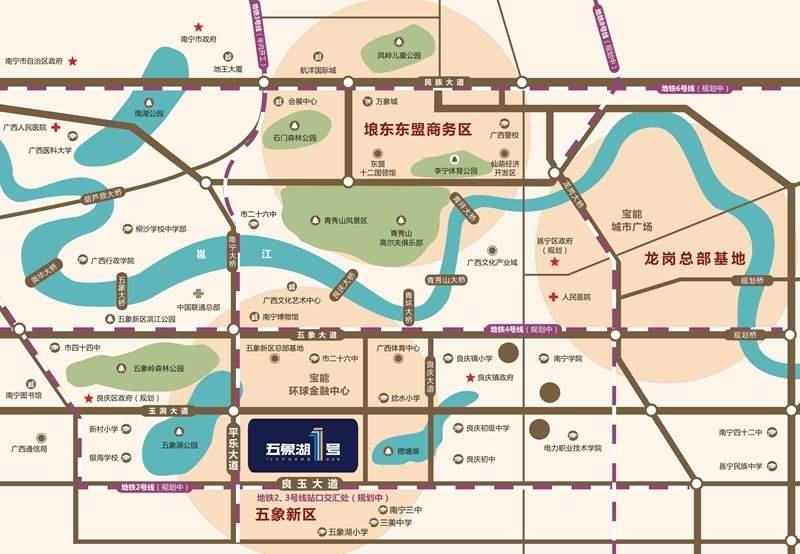 南宁宝能城位置图