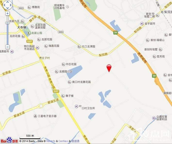 房信彩虹城位置图