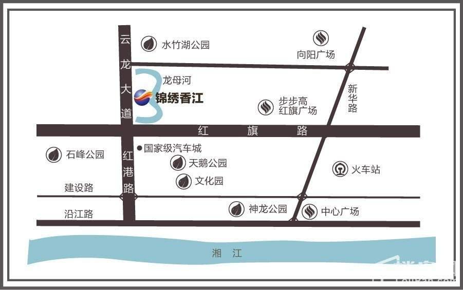 锦绣香江位置图